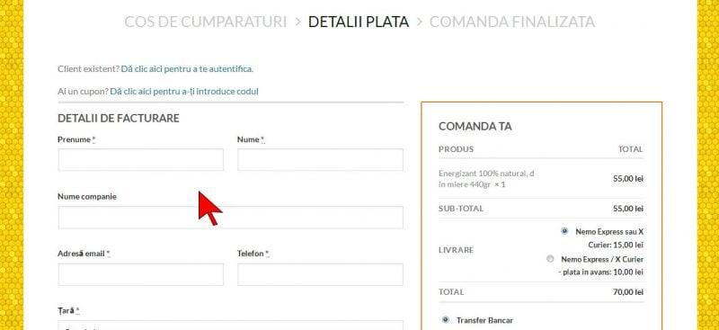Detalii facturare - completeaza datele personale