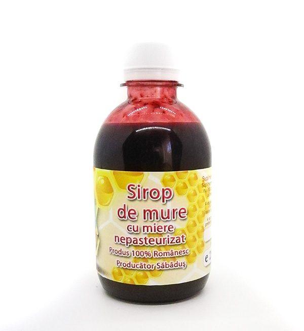 Sirop de Mure cu miere, NEPASTEURIZAT - 250ml - www.mieresabadus.ro